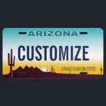 "Arizona Custom License Plate<br><div class=""desc"">Customizable Arizona license plate. Personalize and add your own custom text!</div>"