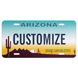 Arizona Custom License Plate