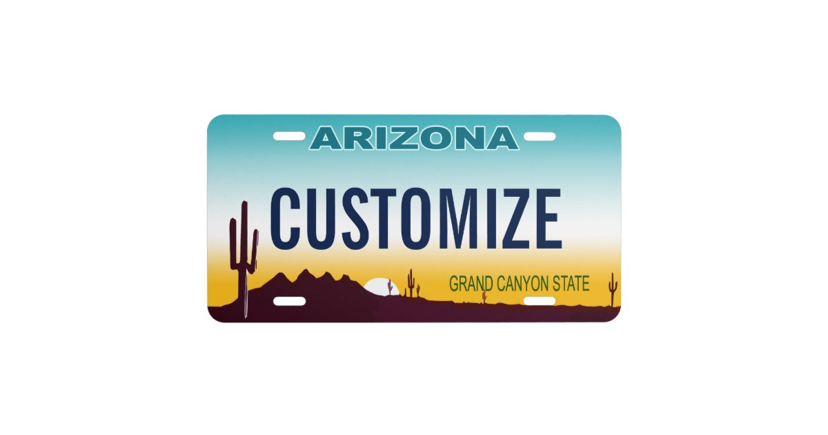Arizona Custom License Plate Zazzle Com