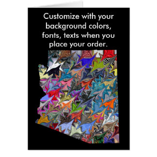 Arizona Customize colorful card how you like