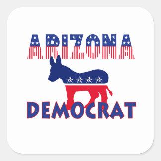 Arizona Democrat Square Stickers