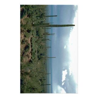 Arizona Desert and Cactuses Personalized Stationery