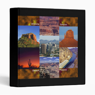 Arizona Desert Collage 3 Ring Binder