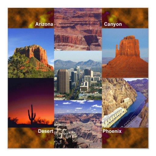 Arizona Desert Collage Announcements