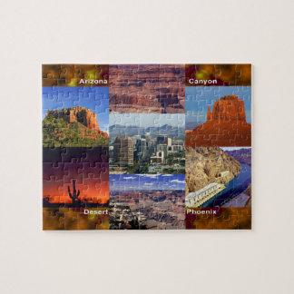Arizona Desert Collage Jigsaw Puzzle