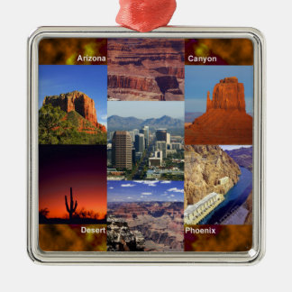 Arizona Desert Collage Metal Ornament