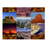 Arizona Desert Collage Postcard