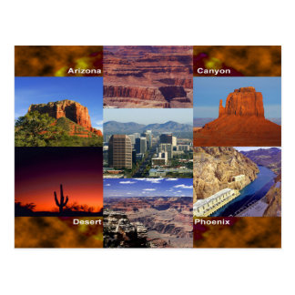 Arizona Desert Collage Postcard