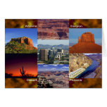 Arizona Desert Collage Stationery Note Card