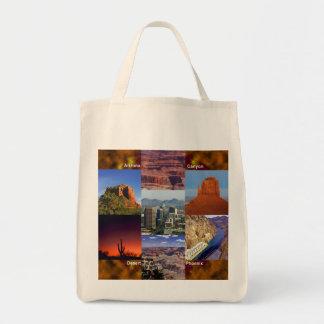 Arizona Desert Collage Tote Bag