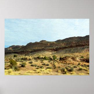 Arizona Desert Drive View Poster
