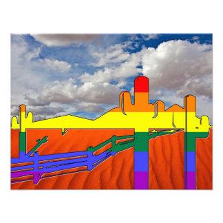 Arizona Desert GLBT Pride Personalized Announcement