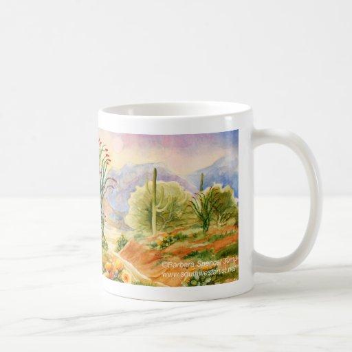 Arizona Desert Landscape Ocotillo in Bloom Classic White Coffee Mug