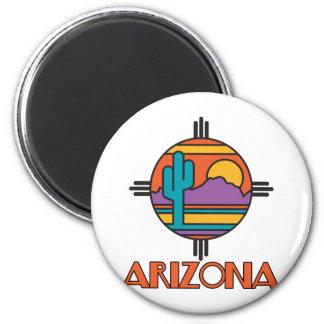 Arizona Desert Mandala 2 Inch Round Magnet