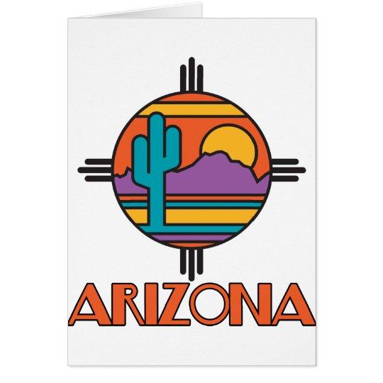 Arizona Desert Mandala Card