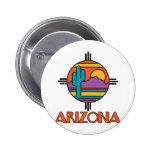 Arizona Desert Mandala Pinback Button
