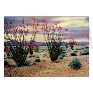 Arizona Desert Ocotillos in Bloom Card