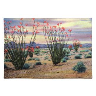 Arizona Desert Ocotillos in Bloom Placemat