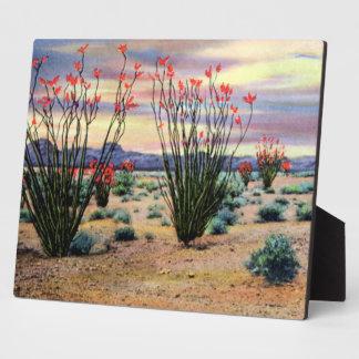 Arizona Desert Ocotillos in Bloom Plaque