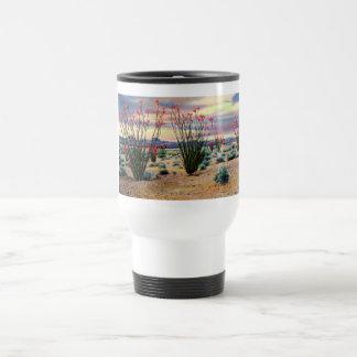 Arizona Desert Ocotillos in Bloom Travel Mug
