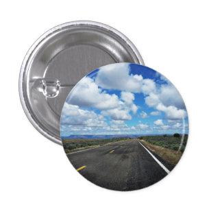 Arizona Desert Road in the southwestern U.S. Pinback Button