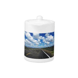 Arizona Desert Road in the southwestern U.S. Teapot