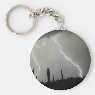 Arizona Desert Storm Basic Round Button Keychain