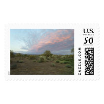 Arizona Desert Sunset Postage