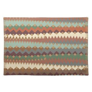 Arizona Desert Tribal ZigZag Camouflage Cloth Placemat