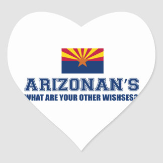 Arizona design heart sticker