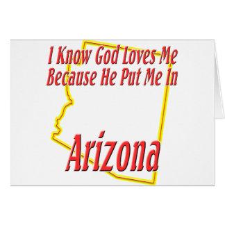 Arizona - dios me ama felicitaciones
