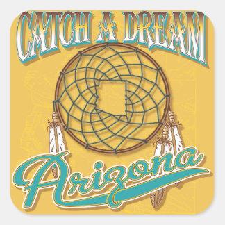 Arizona Dream Catcher Square Sticker