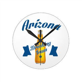 Arizona Drinking team Round Clock