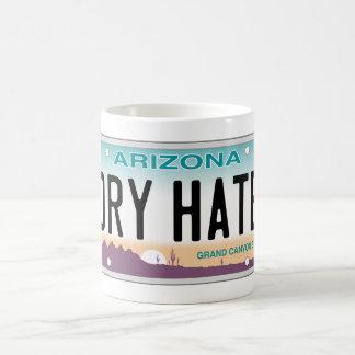Arizona Dry Hate Vanity Plate Mug