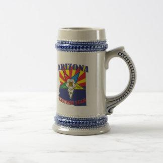 Arizona Eastern Star State Flag Beer Stein