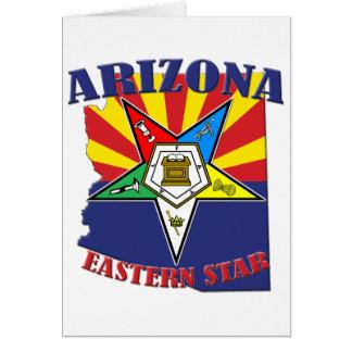 Arizona Eastern Star State Flag Card
