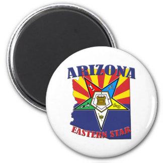 Arizona Eastern Star State Flag Magnet