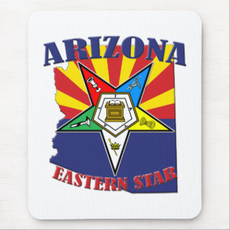 Arizona Eastern Star State Flag Mouse Pad