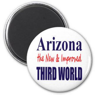 Arizona el TERCER mundo nuevo y mejorado Imán Redondo 5 Cm