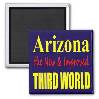 Arizona el TERCER mundo nuevo y mejorado Imán Cuadrado