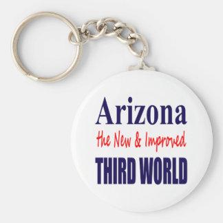 Arizona el TERCER mundo nuevo y mejorado Llavero Redondo Tipo Pin
