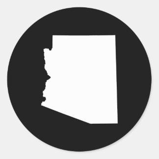 Arizona en blanco pegatina redonda