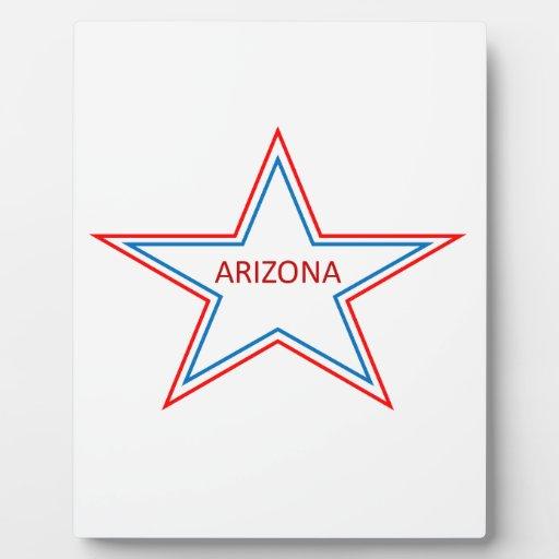 Arizona en una estrella placa