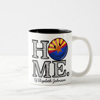 Arizona es calentador sonriente casero de la casa taza de dos tonos