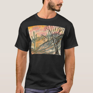 arizona evening southwestern landscape art T-Shirt