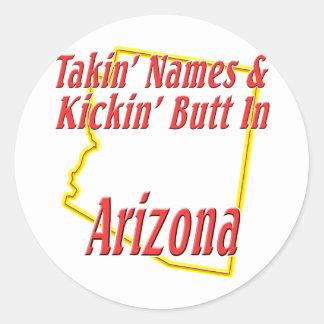 Arizona - extremo de Kickin Pegatina Redonda