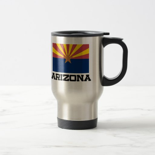 Arizona Flag 15 Oz Stainless Steel Travel Mug