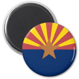 Arizona Flag 2 Inch Round Magnet