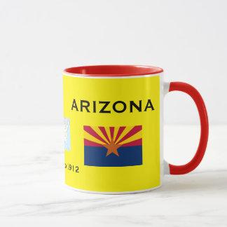 Arizona Flag and Crest Mug