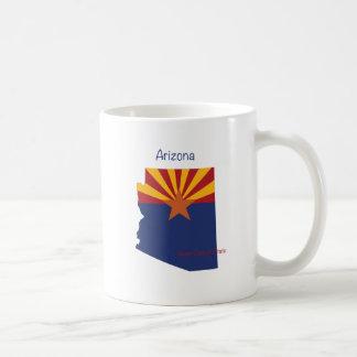 Arizona flag and map coffee mug